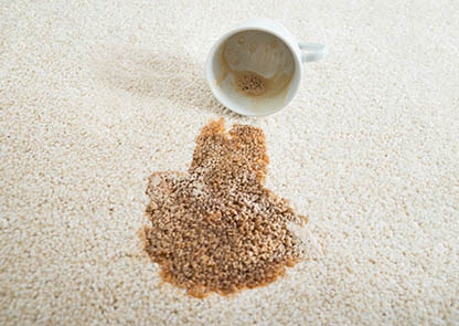 Porady czyszczenie hotel plama kawa wykładzina