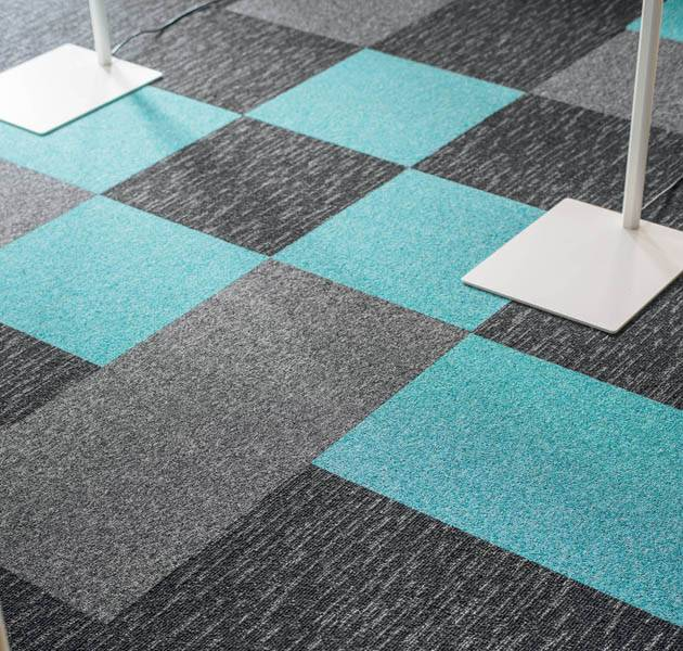 Collection pilote 3D dalle de moquette rain detail bleu gris gris clair