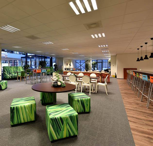 Inspiration Grande Reference office dalles Metropolitan grafik block salle de repos
