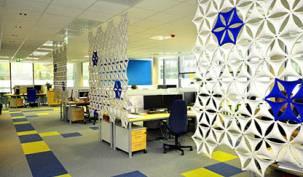 Conseils choisir Office moquette dalles colorees open space