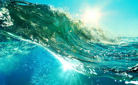 Inspiracja sztuka dekoracyjna ocean fala podmorska