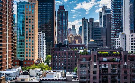 Inspiracja urbanistyczna sztuka dekoracyjna panorama miejskie budynki