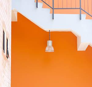 Inspiracja kolory sztuka dekoracyjna pomarańcz