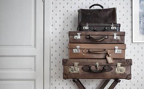 Inspiracja patyna sztuka dekoracyjna walizki skóra